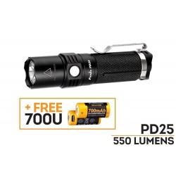 fenix PD25   led 550 lumen